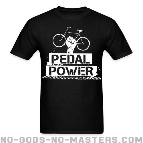 T-shirt printed on the back Pedal power - Environment & ecology