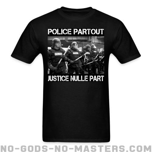 T-shirt ♂ Police partout justice nulle part - ACAB & police abuse
