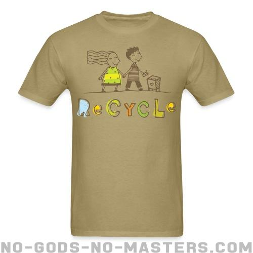 T-shirt printed on the back Recycle - Environment & ecology