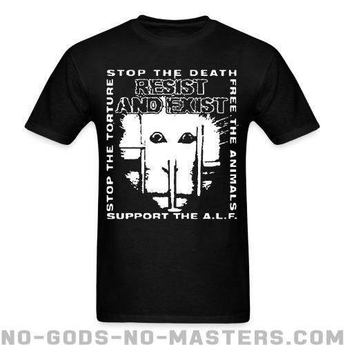 Standard t-shirt (unisex) Resist And Exist - Stop the death / free the animals / stop the torture / support the A.L.F. -
