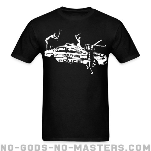 Rioters attacking a police car - ACAB T-shirt