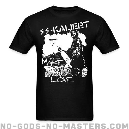Standard t-shirt (unisex) SS-Kaliert - Make war not love -