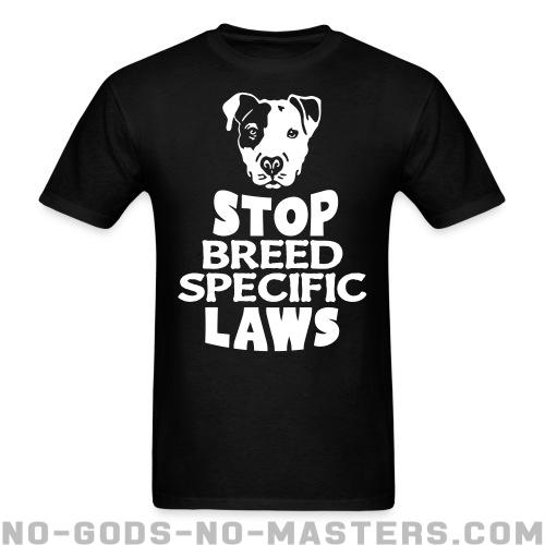 Standard t-shirt (unisex) Stop breed specific laws - Vegan & Animal liberation
