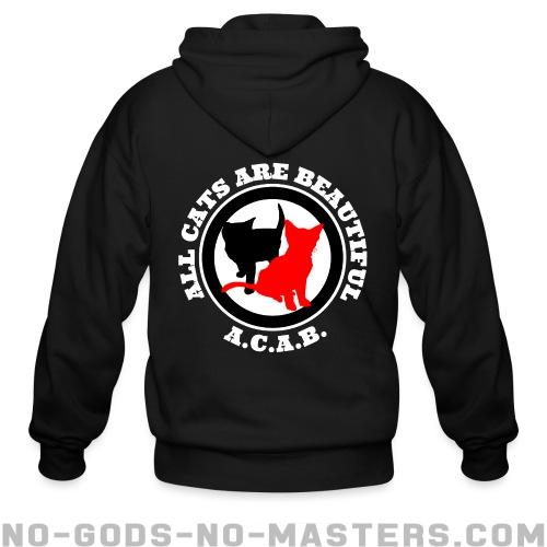 A.C.A.B. All Cats Are Beautiful - Animal Liberation Zip hoodie