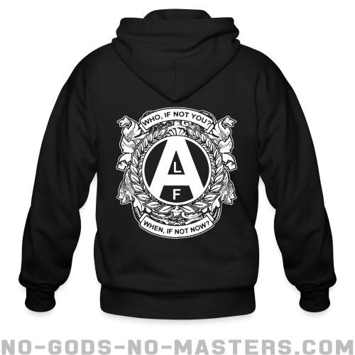 ALF - who, if not you? when, if not now? - Animal Liberation Zip hoodie