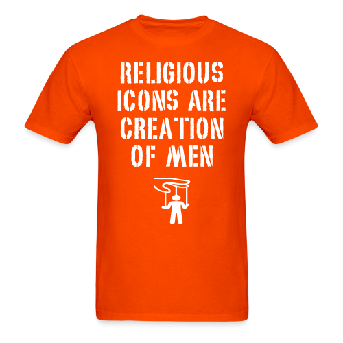 Religious icons are creation of men