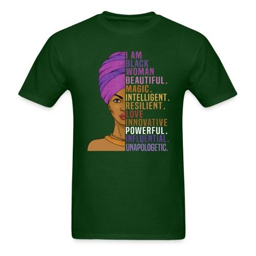I am black woman - beautiful, magic, intelligent, resilient, love, innovative, powerful, influential, unapologetic