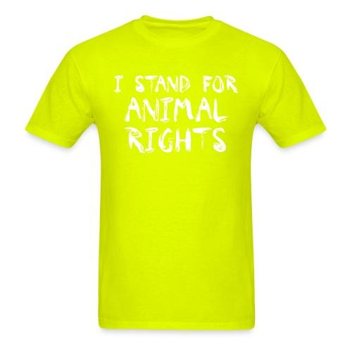 I stand for animal rights