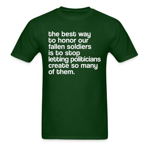 The best way to honor our fallen soldiers is to stop letting politicians create so many of them