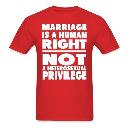 Marriage is a human right not a heterosexual privilege