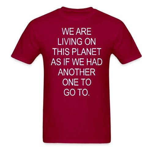 We are living on this planet as if we had another one to go to.